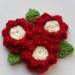 1940's Crochet Flower Brooch