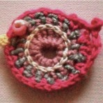 Crochet Bird Brooch