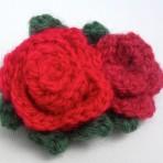 Crocheted Rose Brooch