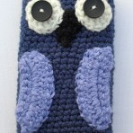 Crocheted Owl Phone Case