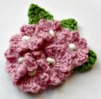 1940's Crocheted Flower Brooch