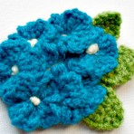 1940's Crocheted Flower Brooch