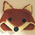 Crocheted Fox Hat